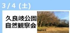 【開催終了】久良岐公園自然観察会