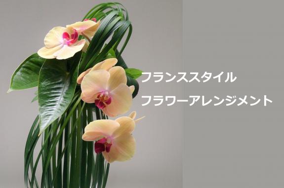 【12月の告知協力】フランススタイル フラワーアレンジメント