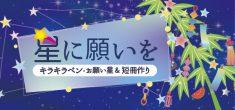 星に願いを☆彡 キラキラペン、お願い星作り&短冊作り