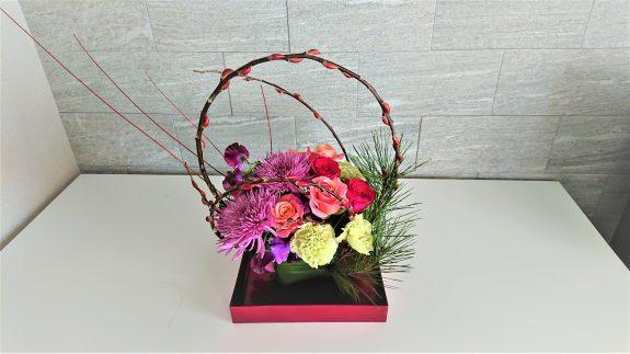 【2月の告知協力】フランススタイル フラワーアレンジメント